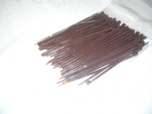 2,6x100mm Kabelbinder in braun