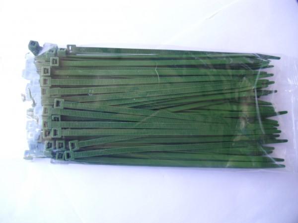 4,8x200mm Kabelbinder in grün