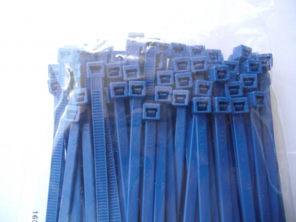 3,6x140mm Kabelbinder in blau