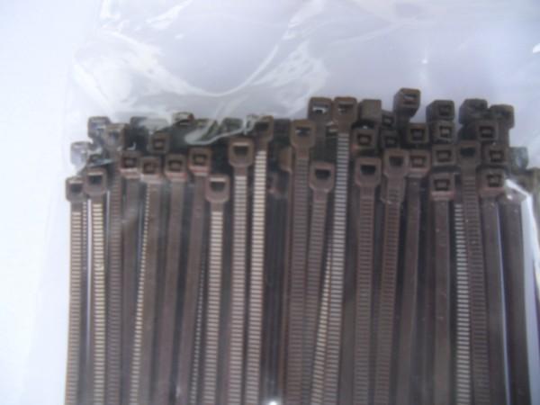 4,8x200mm Kabelbinder in braun