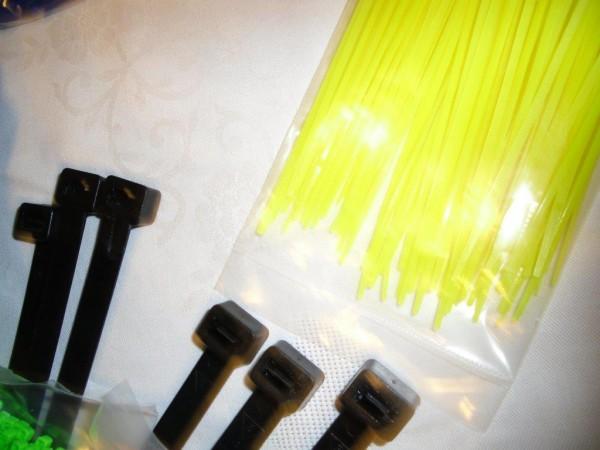 2,6x100mm Kabelbinder in neongelb