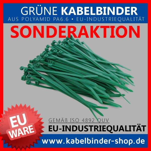 2,6x100mm Kabelbinder in grün