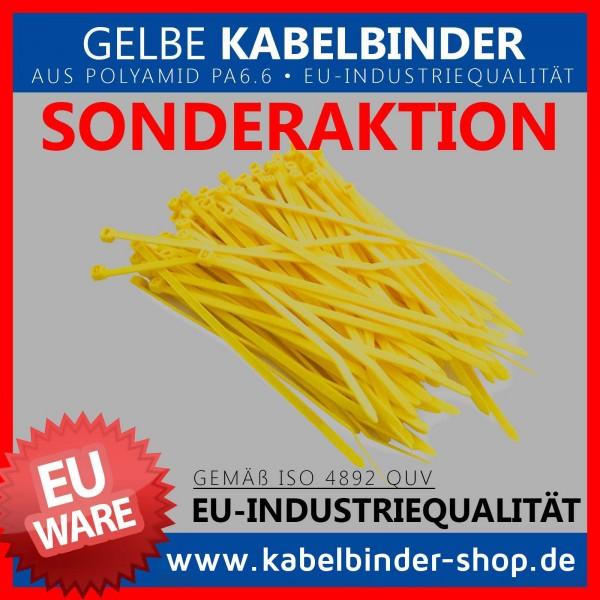 2,6x100mm Kabelbinder in gelb