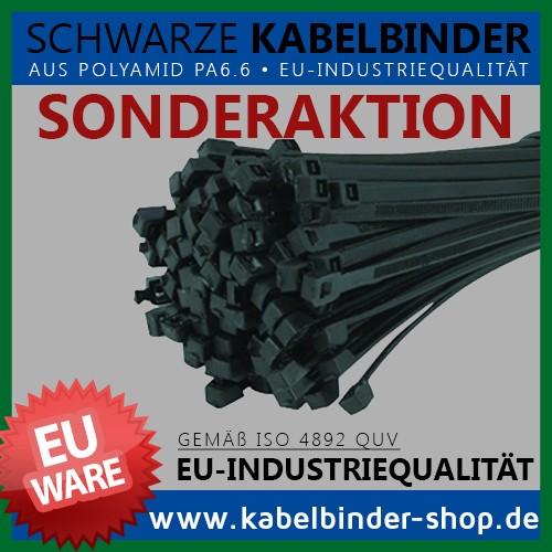 3,6x290mm Kabelbinder in Schwarz