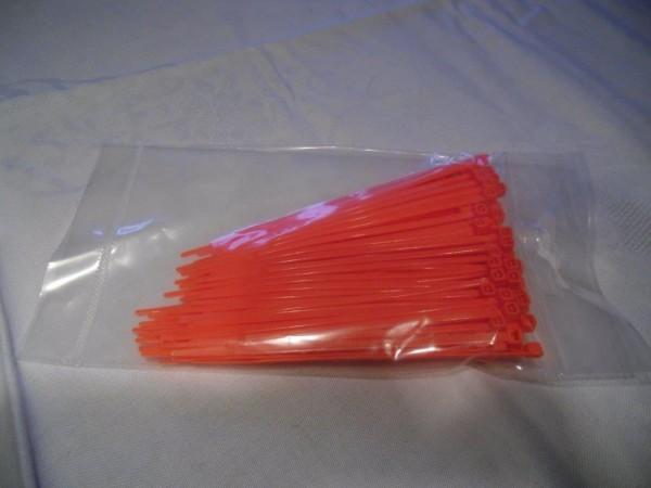 2,6x100mm Kabelbinder in Pink