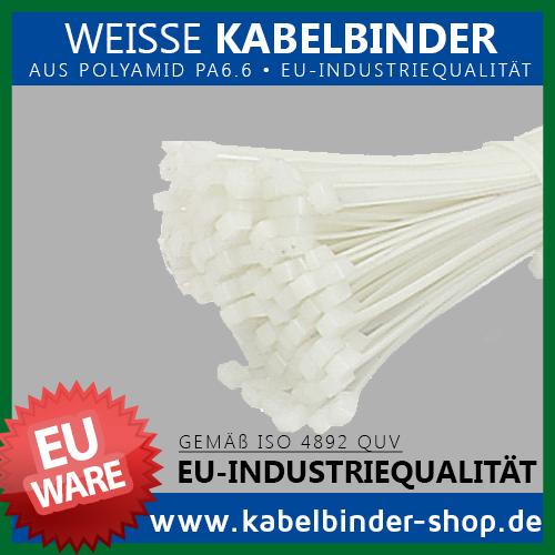 Kabelbinder - Made in der EU - Natur (Weiß) - aus Polyamid 6.6